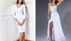 Платье белого цвета на 2020 год