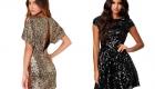 Модное новогоднее платье 2020 с пайетками