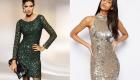 Модное короткое платье 2020 с пайетками