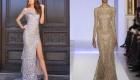 Длинное новогоднее платье с пайетками на 2020 год