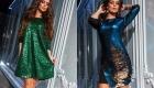 Красивое блестящее платье с пайетками на Новый 2020 год