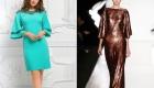 Новогоднее платье 2020 года с рукавами