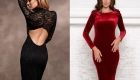 Новогоднее бархатное платье 2020