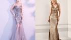 блестящее длинное платье рыбка на Новый Год 2020