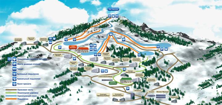 Карта трасс ГК Белокуриха