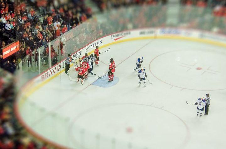 Ледовая арена для хоккея
