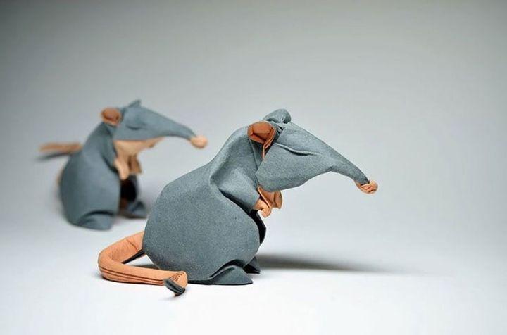 Как сделать оригами Крысу из модулей