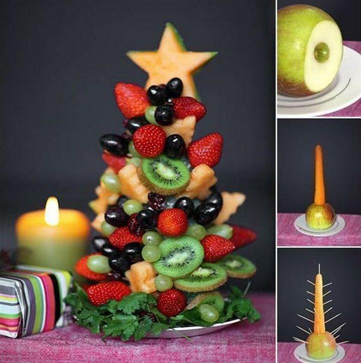 Новогодний фруктовый топиарий