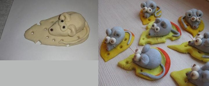 Крыса из слоеного теста