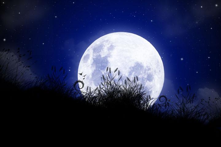 луна над полем