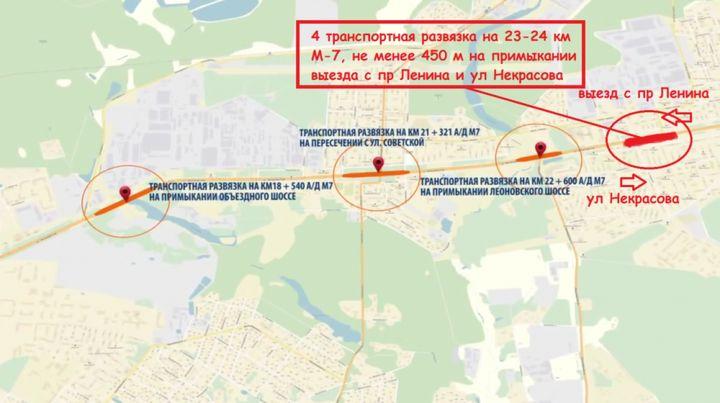 Схема реконструкции Горьковского шоссе