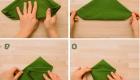 как сложить салфетку елочкой 2 часть
