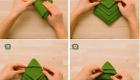 как сложить салфетку елочкой 3 часть