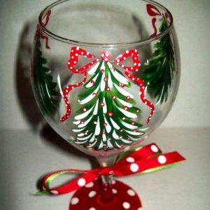 Как сделать новогодний бокал своими руками