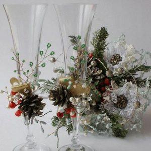 Красивые идеи украшения новогодних бокалов