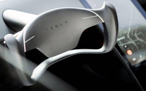 Новый руль Tesla Roadster 2020 года