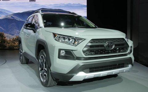 Передний бампер Toyota RAV 4 2019-2020