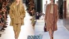 Модные бежевые пальто 2019-2020 года