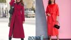 Красные демисезонные пальто 2019-2020 года