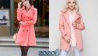 Короткие демисезонные розовые пальто 2019-2020 года