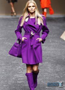 Модное сиреневое пальто 2019-2020