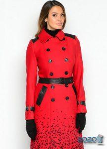 Модное красное пальто 2019-2020