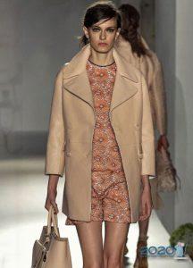 Модное кремовое пальто 2019-2020