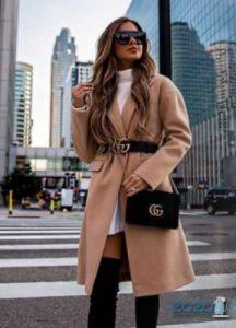 Модное бежевое пальто 2019-2020