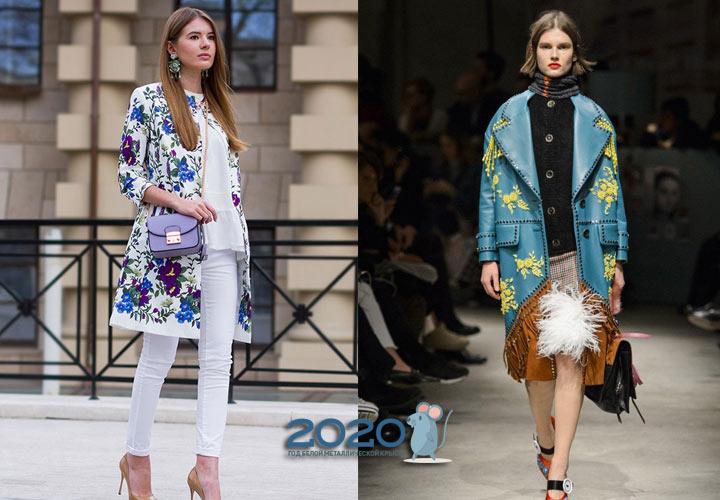 Модные принты женских пальто 2019-2020 года