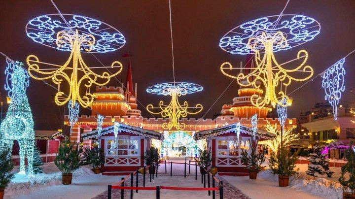 новогодние декорации на улицах казани