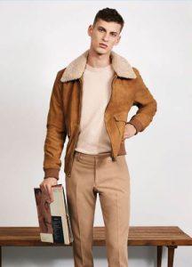 Мужская куртка из натурального замша мода 2019 года