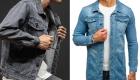 Модные куртки из синего и серого джинса