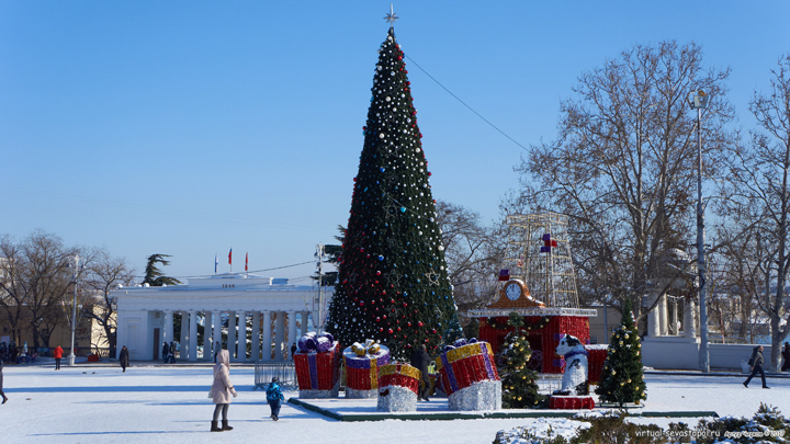 Новогодняя елка в Крыму