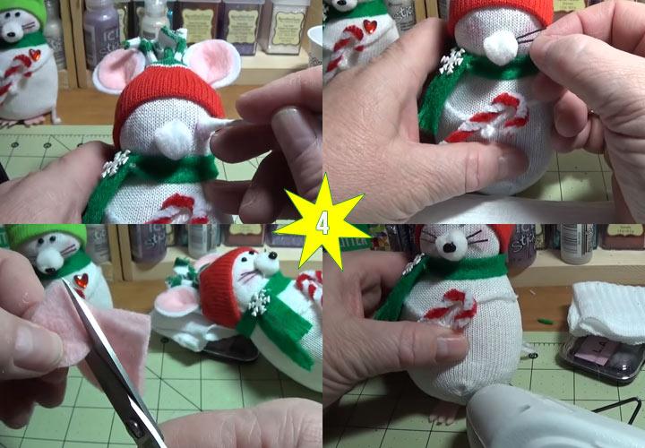 Как сделать мышку игрушку своими руками этап 4