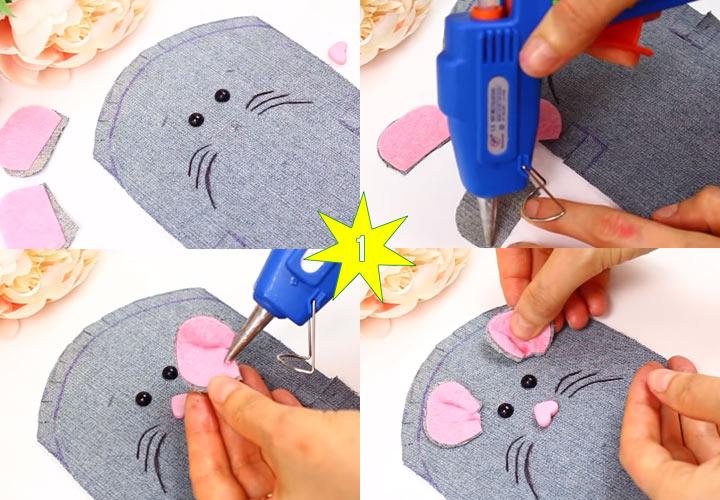 Как сделать мышку кошелек своими руками этап 1