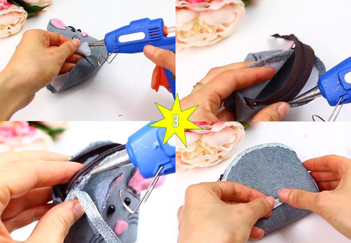 Как сделать мышку кошелек своими руками этап 3