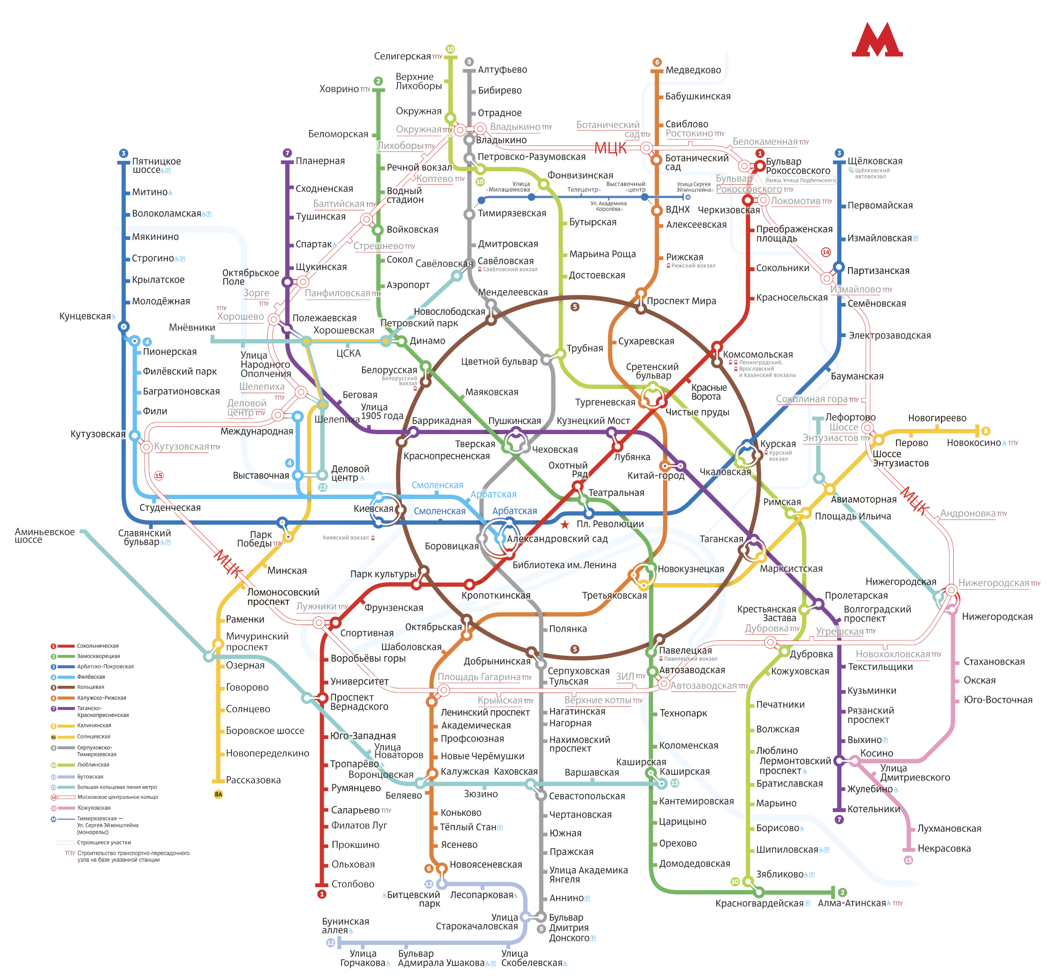 Транспортная развязка Москвы