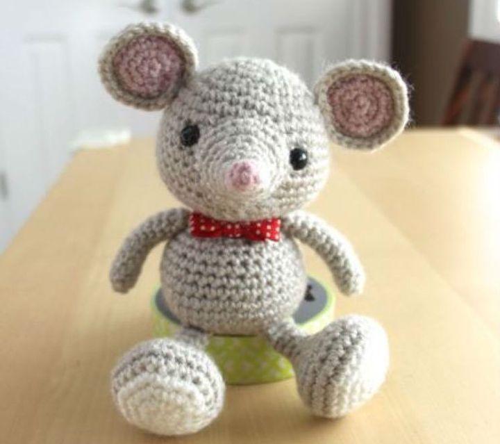 Вязание мыши крючком