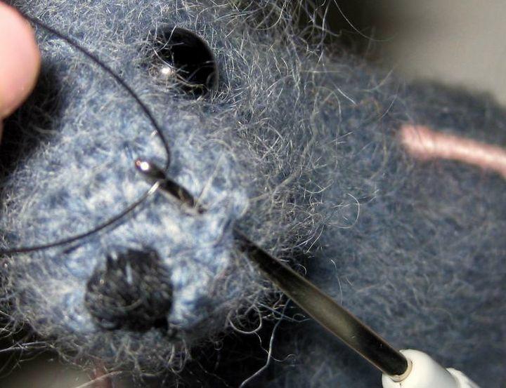 Вязание крысы крючком