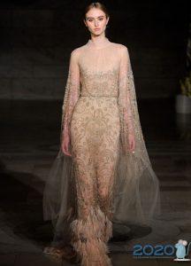 Модное свадебное платье 2020 года с оттенком