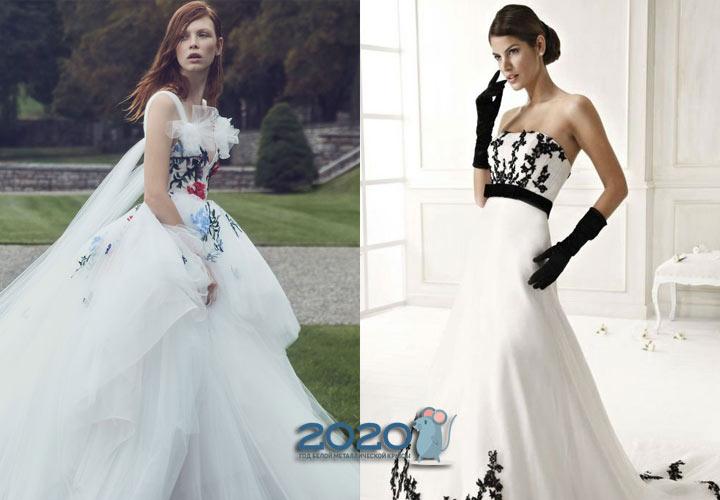 Свадебное платье с яркими акцентами на 2020 год