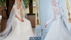 Красивое свадебное платье 2020 года с пышной юбкой
