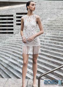 Короткое свадебное платье 2020 с бахромой
