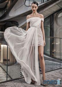 Стильное короткое свадебное платье на 2020 год