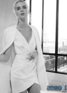 Модное короткое платье для невесты тренды 2020 года