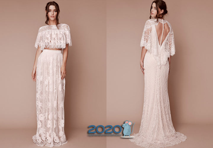 Свадебное платье в стиле ретро мода 2020 года