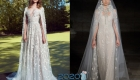 Свадебное платье с кейпом мода 2020 года