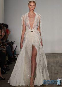 Экстремально открытое свадебное платье 2020