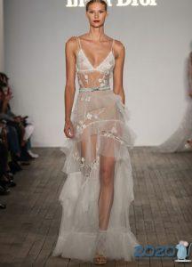 Экстремально прозрачное свадебное платье 2020
