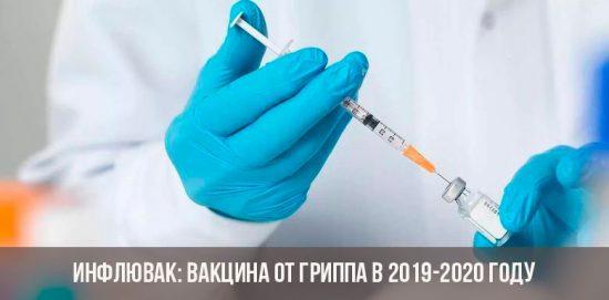 Вакцина от гриппа Инфлювак 2019-2020 года
